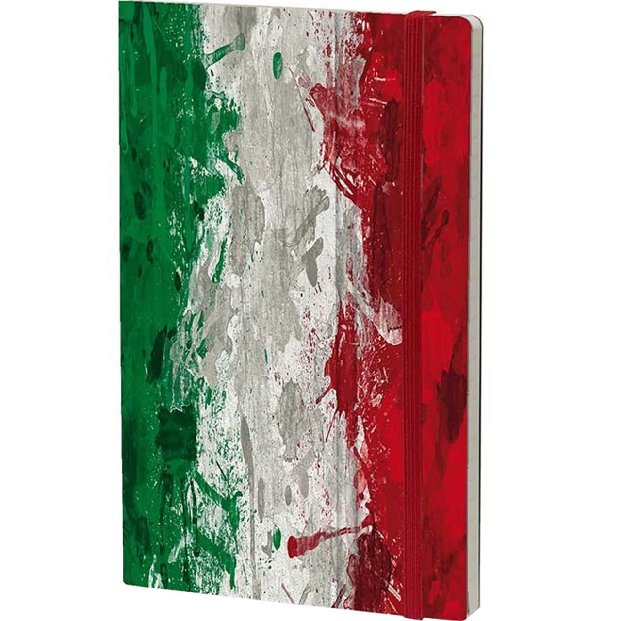 Stifflexible Notizbuch HISTORICAL NOTES 13 x 21 cm 192 S., ITALIANS DO IT BETTER (Italy Flag)