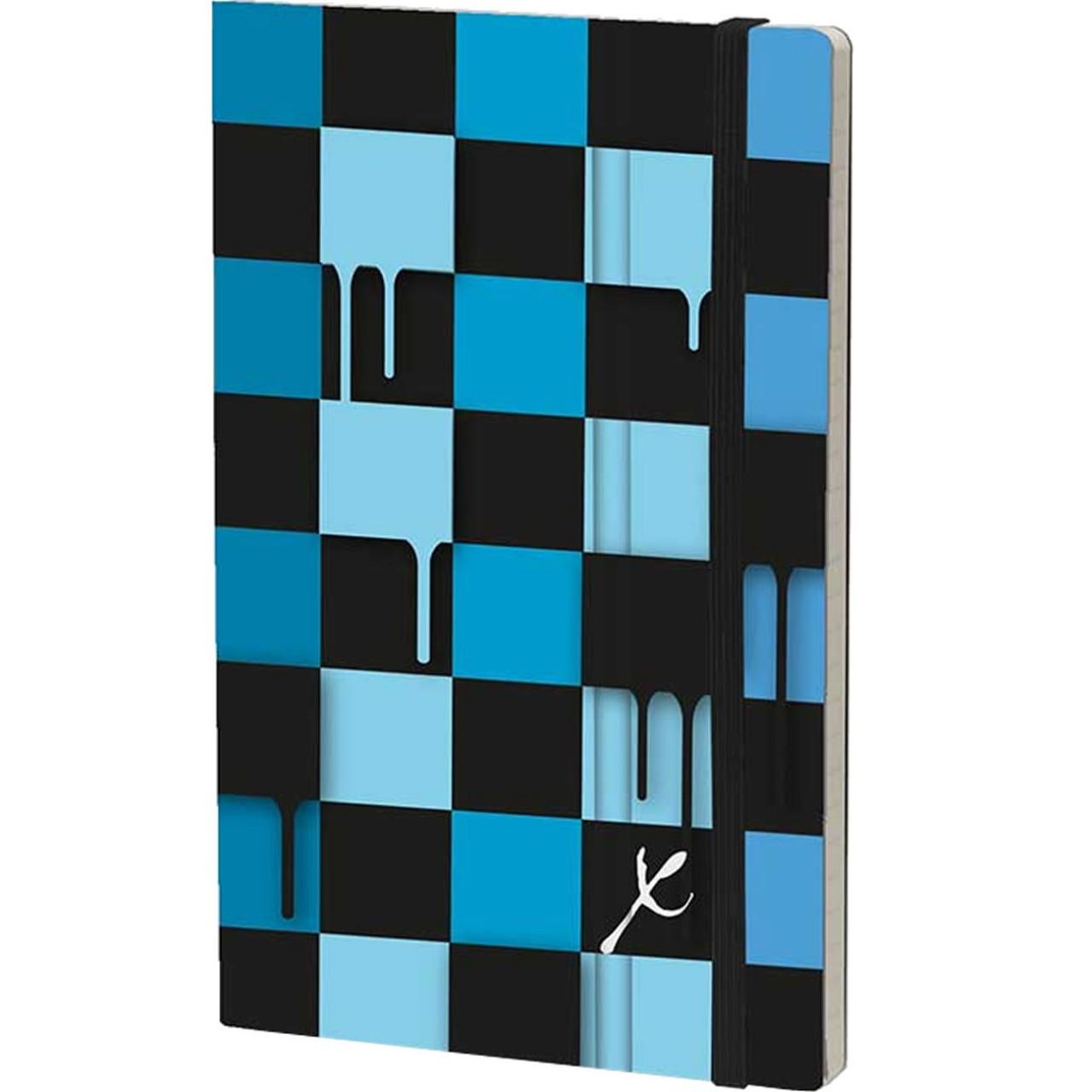 Stifflexible Notizbuch CHESS 9 x 14 cm 144 S., BLUE