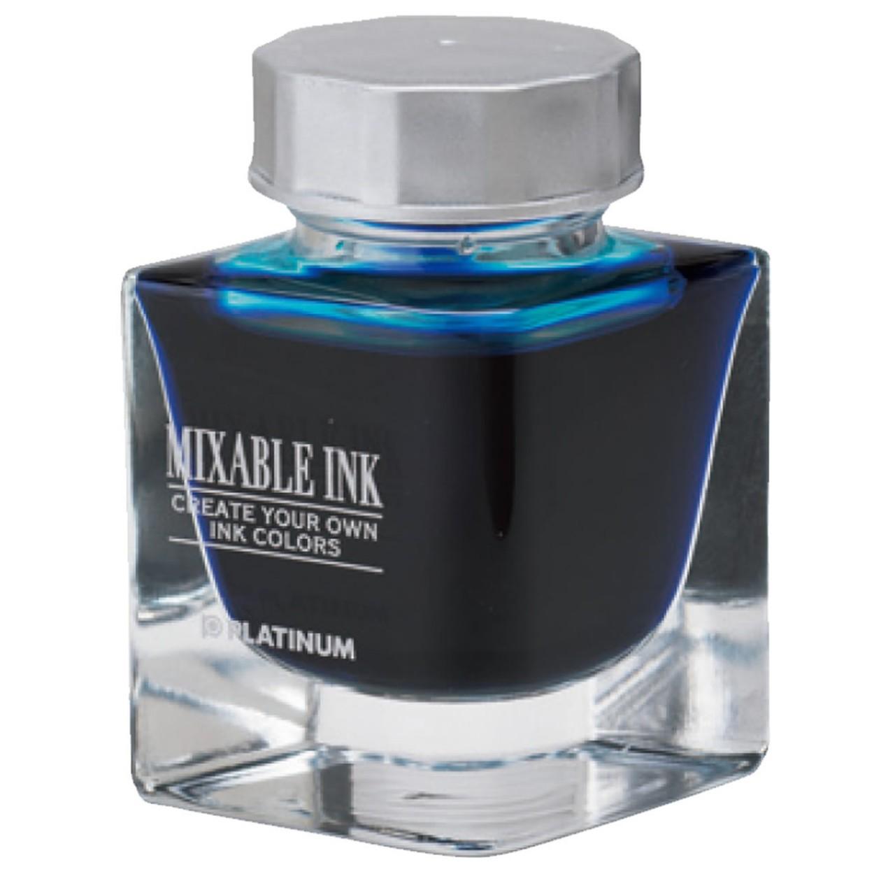 Platinum Dyestuff 'Mixable' bottle ink 20cc Aqua Blue