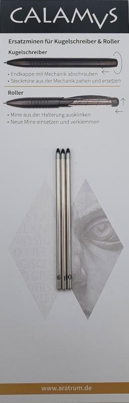 CALAMVS Kugelschreibermine D1 schwarz neutral M