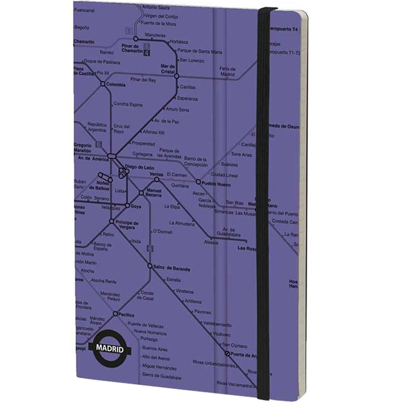Stifflexible Notizbuch UNDERGROUND 9 x 14 cm 144 S., PURPLE (Madrid)