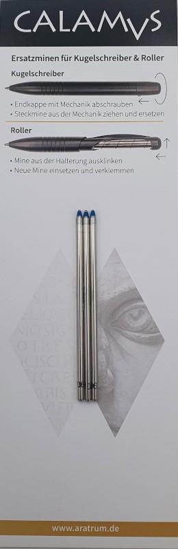 CALAMVS Kugelschreibermine D1 blau neutral M