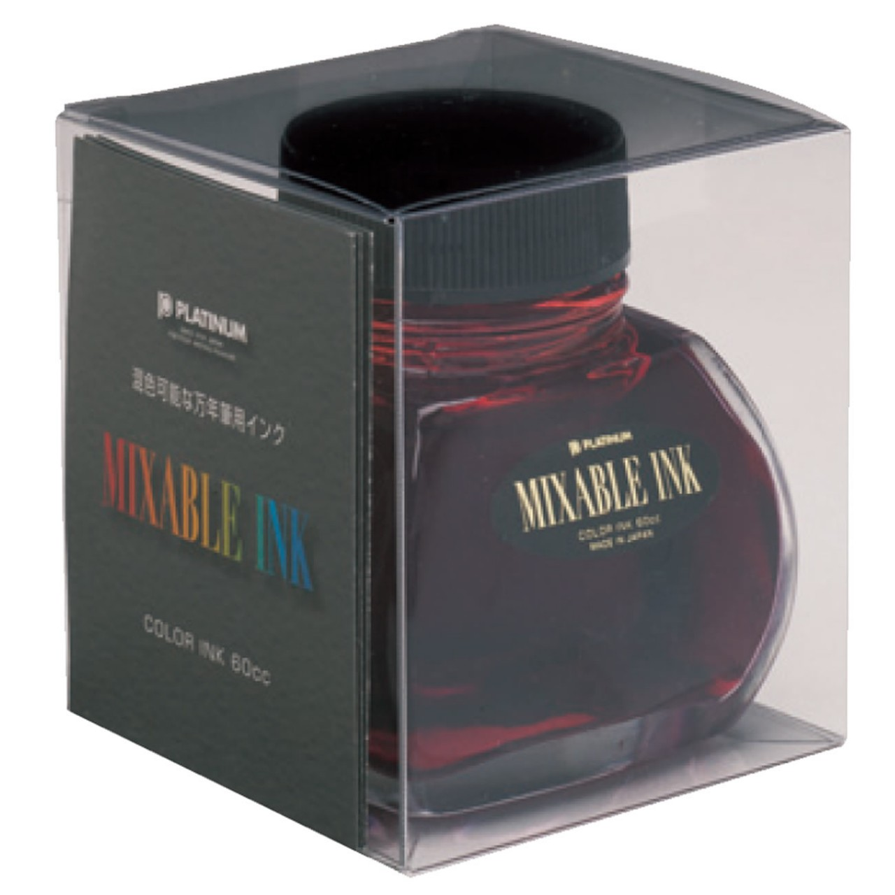 Platinum Dyestuff 'Mixable' bottle ink 60ml Flame red