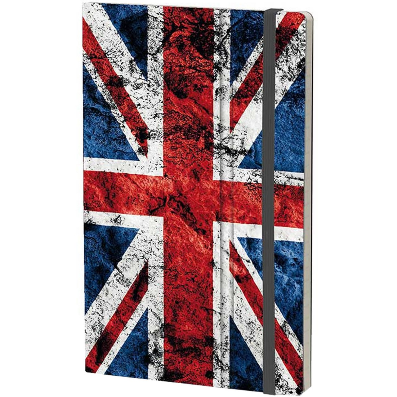 Stifflexible Notizbuch HISTORICAL NOTES 13 x 21 cm 192 S., GOD SAVE THE QUEEN (UK Flag)
